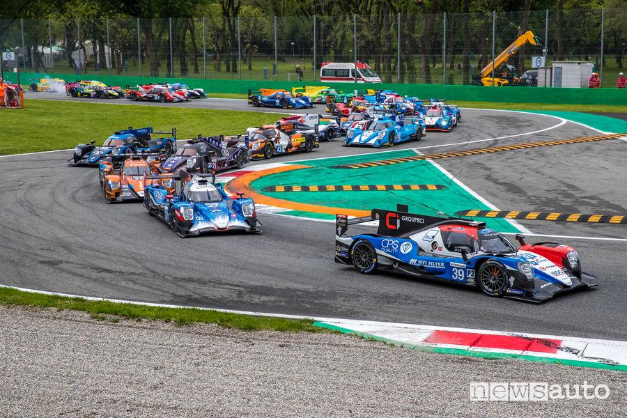 ELMS 4 ore Monza 2019 partenza prima curva