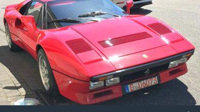 Ferrari 288 GTO germania furto anteriore