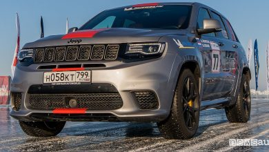 Photo of Jeep Grand Cherokee Trackhawk, record di velocità su ghiaccio