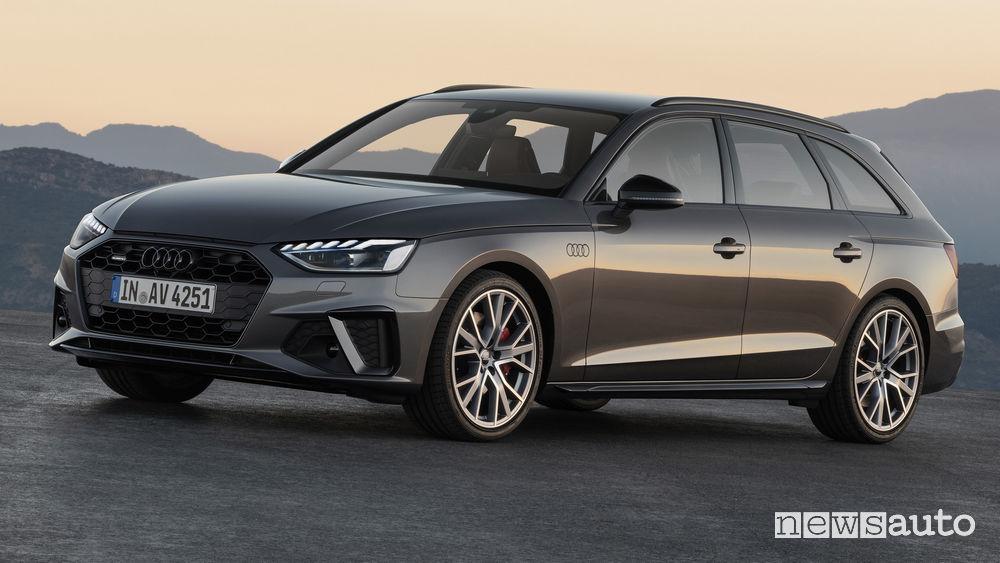 Audi A4 Avant vista di profilo