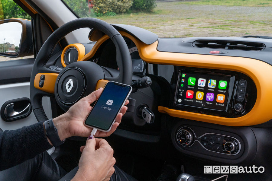 Nuova Renault Twingo 2019 AppleCarPlay