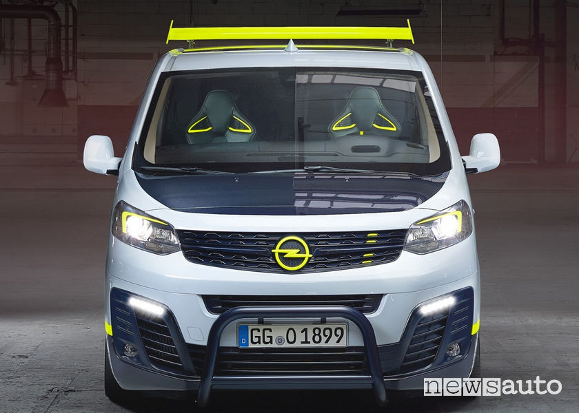 Opel O-Team Zafira Life concept frontale