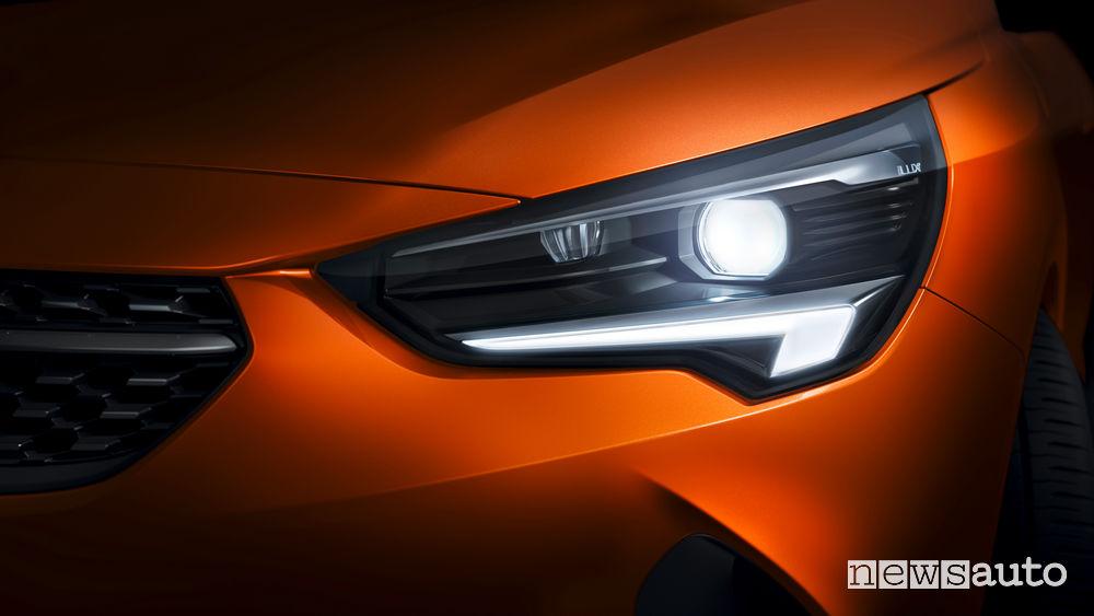 Opel Corsa-e elettrica faro anteriore