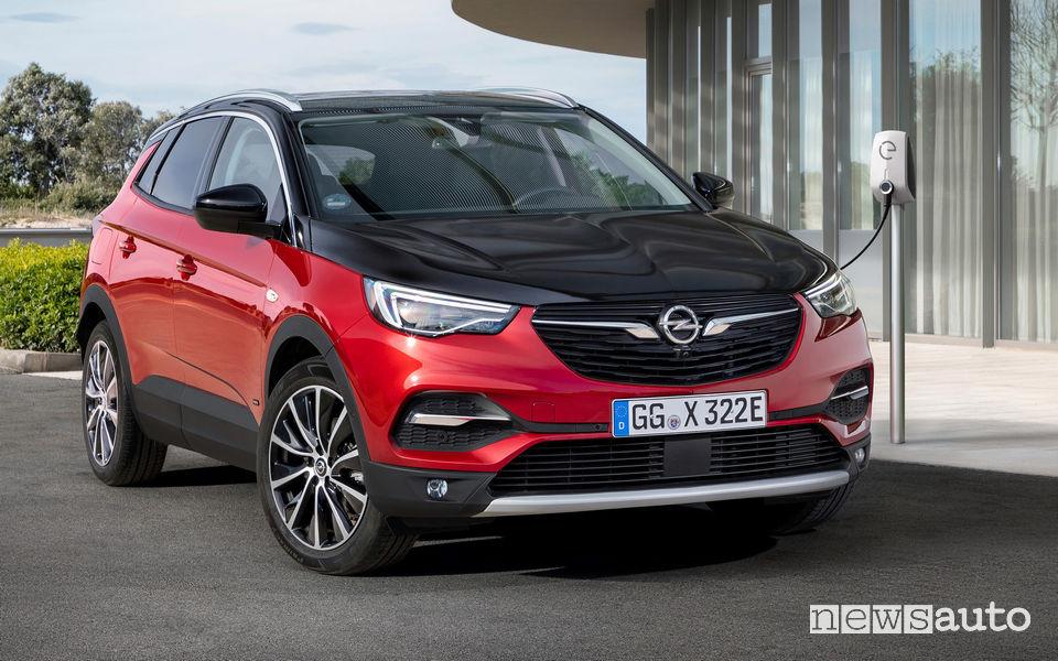 Opel Grandland X Hybrid4 ricarica