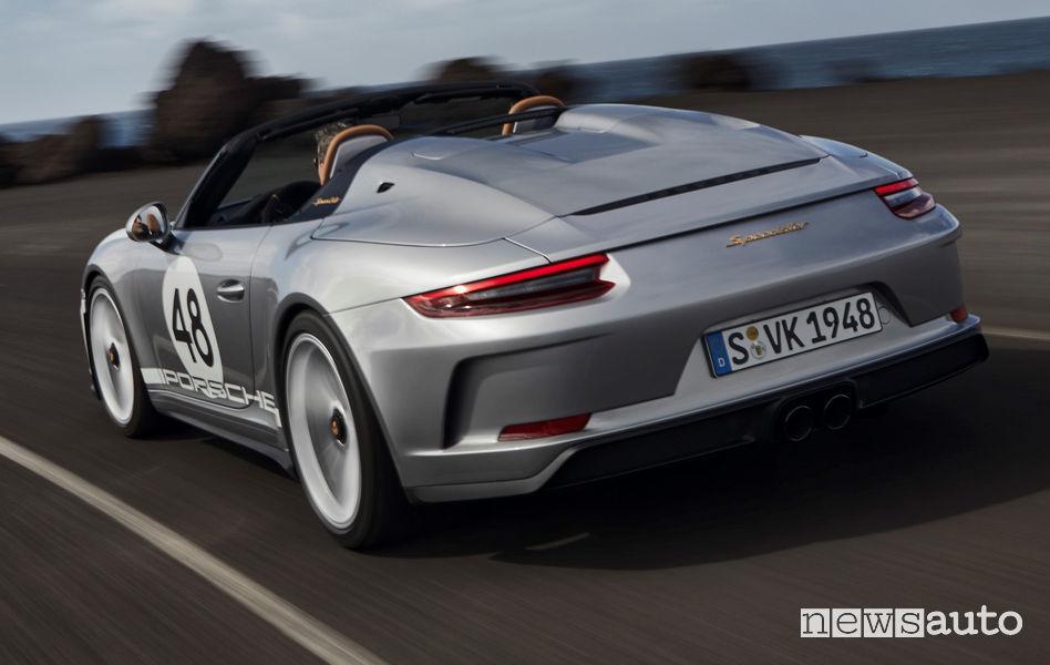 Vista posteriore Porsche 911 Speedster Heritage Design