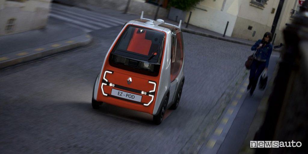 Renault EZ-POD, auto robot a guida autonoma ed elettrico