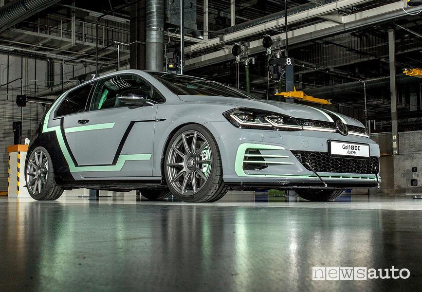 Prototipo Volkswagen GTI Aurora al Worthersee 2019 vista di profilo
