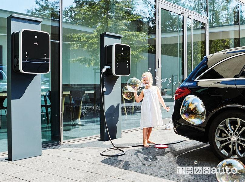 Wallbox ABL eMH3 twin ricarica Mercedes Classe C SW ibrida