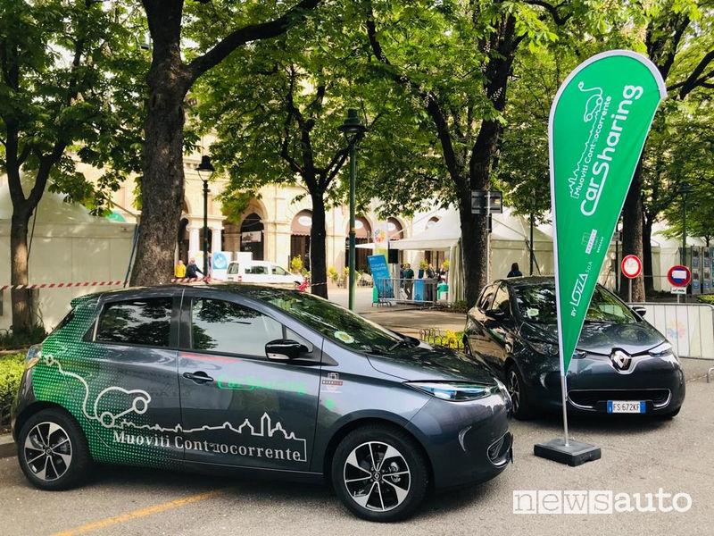 Noleggio auto elettrica a Bergamo Muoviti Controcorrente - Car Sharing Bergamo by Lozza