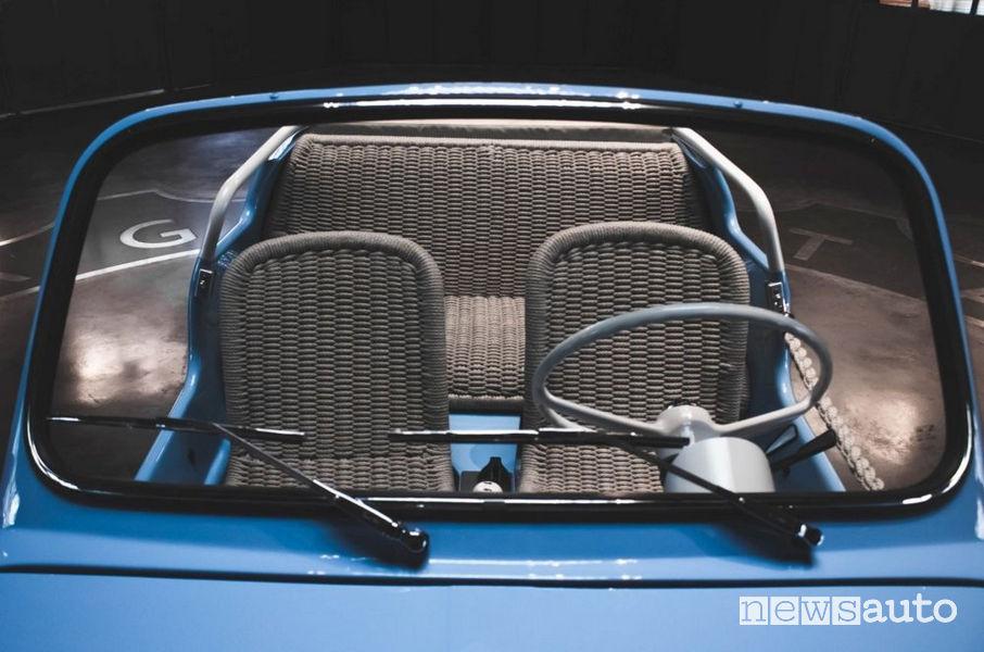 Fiat 500 Jolly Icon-e Garage Italia sedili in corda naturale