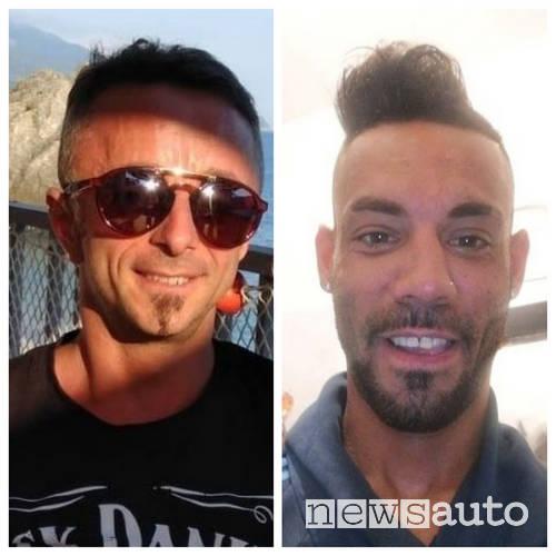 Le vittime dell'incidente auto a Modena:  Luigi Visconti a sinistra e Fausto Dal Moro a destra