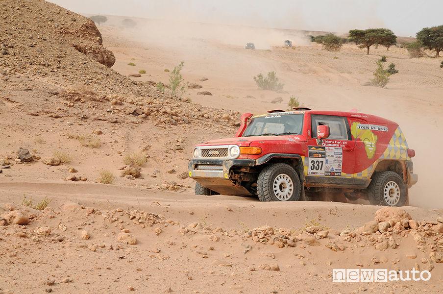 Mitsubishi Pajero di Aldo e Dario De Lorenzo al Morocco Desert Challenge 2019