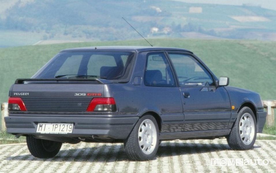 Peugeot 309 GTI 16 V vista posteriore