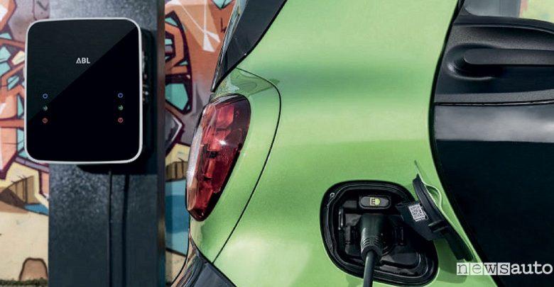 Ricarica auto elettriche, nuove colonnine e wallbox private