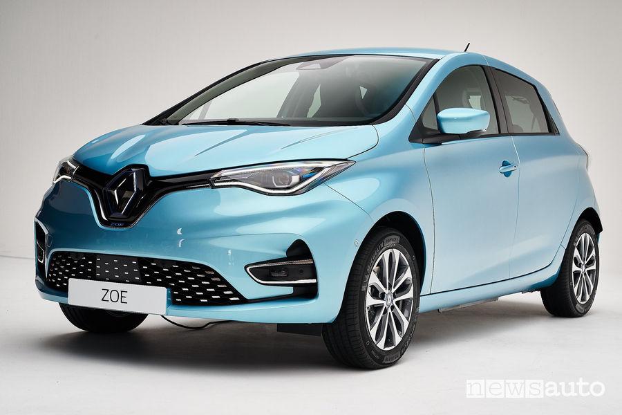 Nuova Renault Zoe vista di profilo