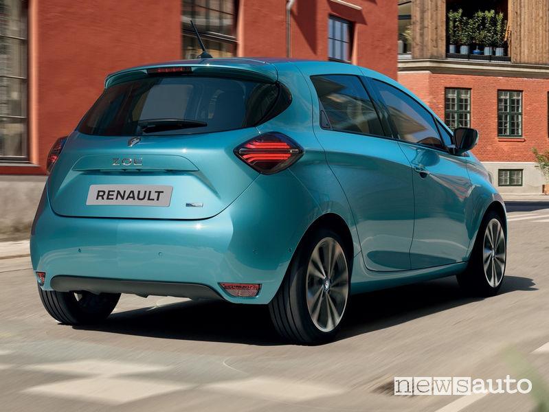 Paraurti posteriore, cofano e fari, nuovo disegno sulla Renault Zoe