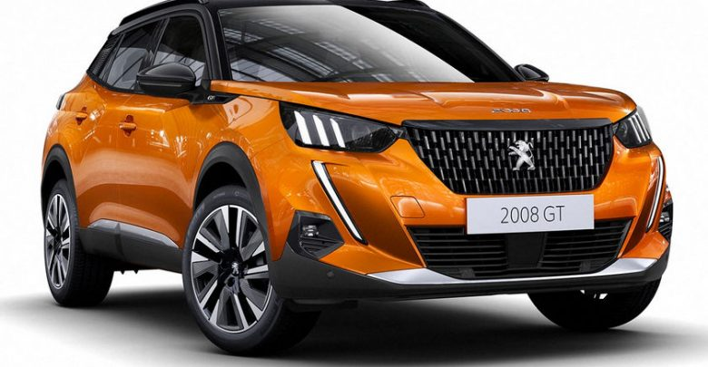 Nuova Peugeot 2008 2020 GT Line vista di profilo