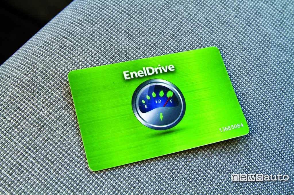 tessera EnelDrive ricarica auto elettrica