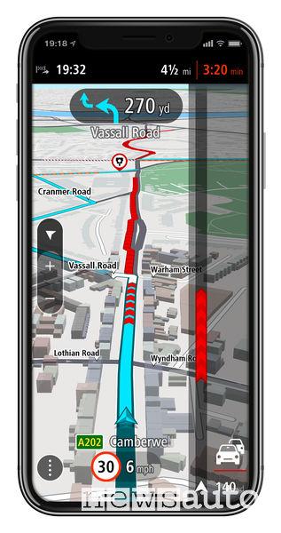 App TomTom GO Navigation, funzione traffico in tempo reale per iOS