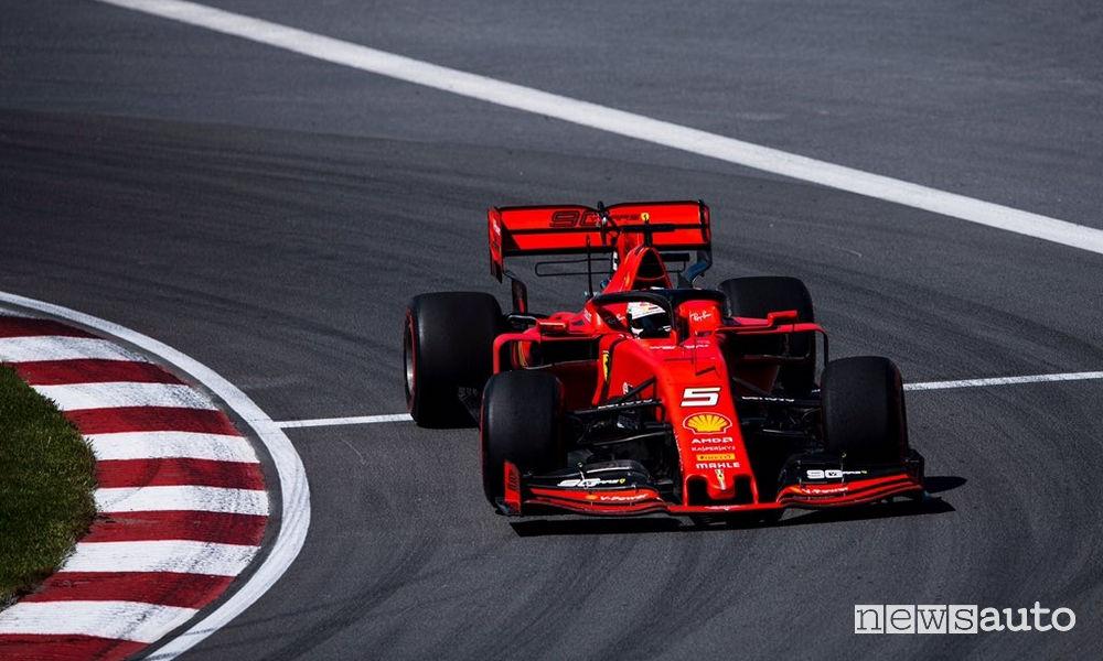 Sebastian Vettel Ferrari qualifiche gp canada 2019