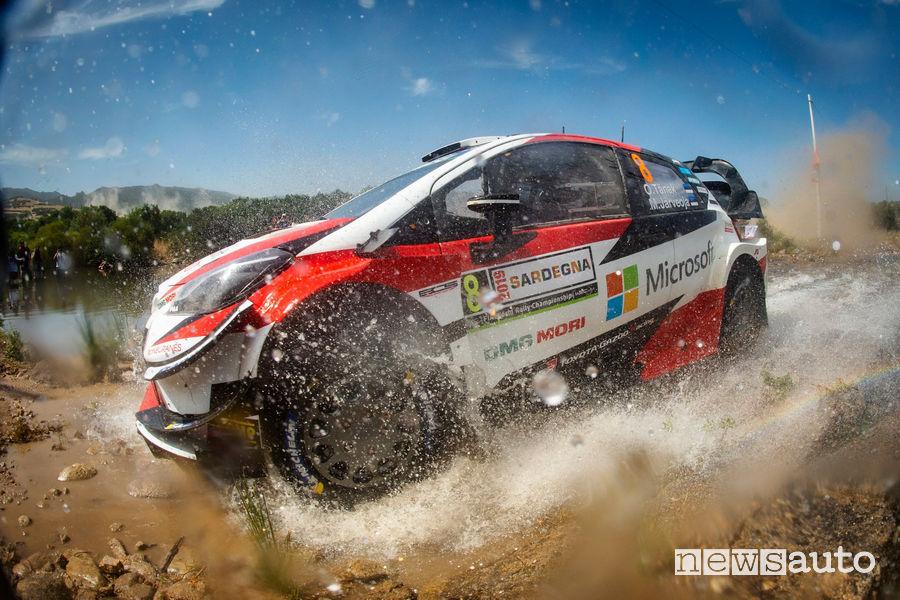 WRC Rally Italia Sardegna Toyota Tanak