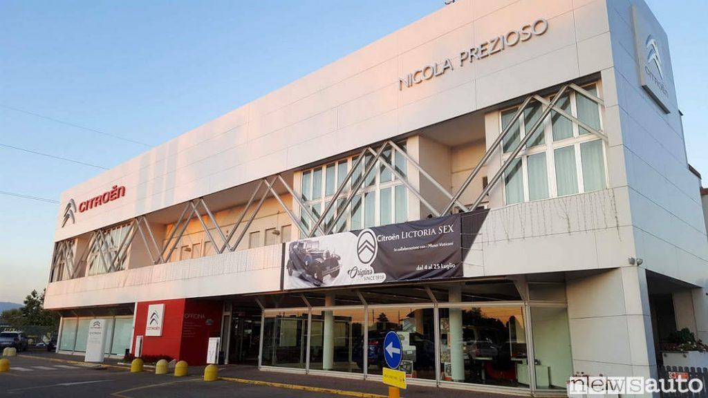 La concessionaria Citroën di Nicola Prezioso ad Aprilia