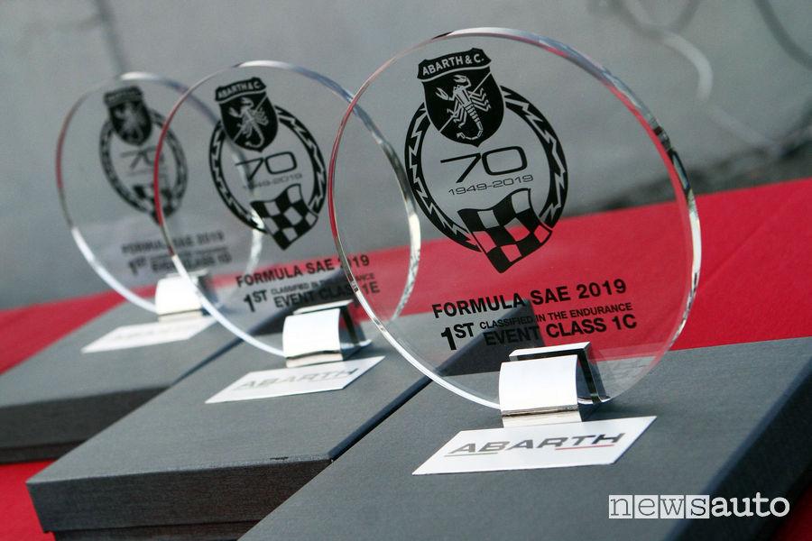 Trofei edizione 2019 Formula SAE Italy sulla pista di Varano de' Melegari