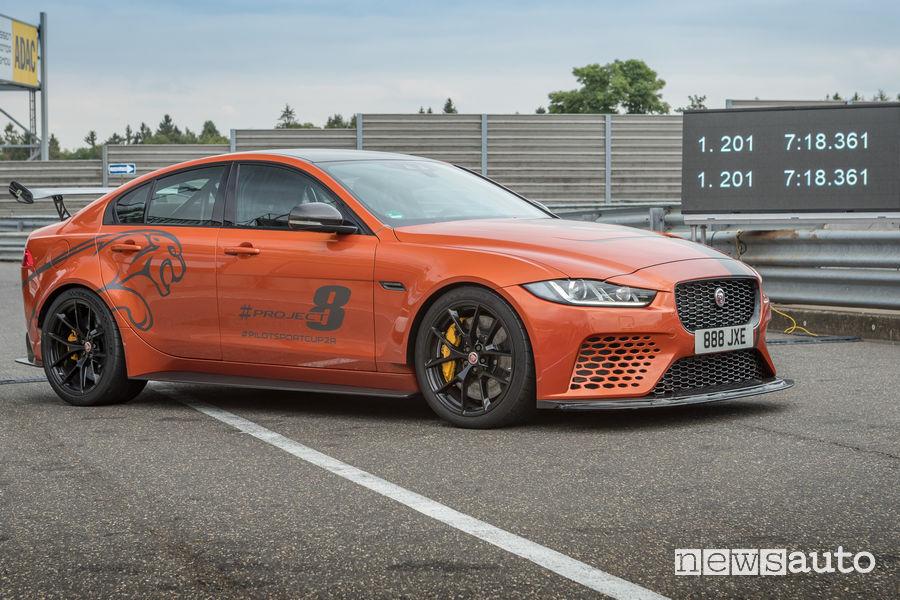 Jaguar XE SV Project 8 nuovo record al Nürburgring