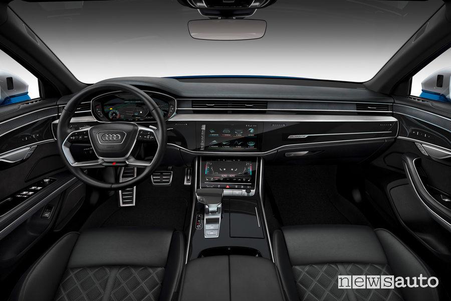 Nuova Audi S8 plancia strumenti