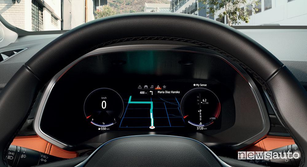 Quadro strumenti e navigatore Nuovo Renault Captur 2020