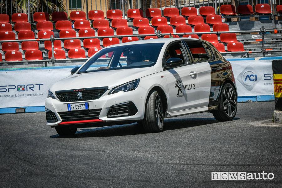 Test drive con Andreucci e la Peugeot 308 GTi ad Ostia al Rally di Roma 2019