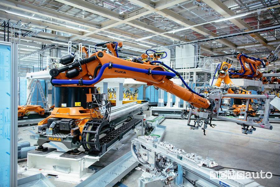 produzione di auto elettriche automatizzata