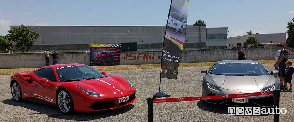 Ferrari 488 GTB e Lamborghini Huracán 610 LP-4 We Can Race all'Isam di Anagni