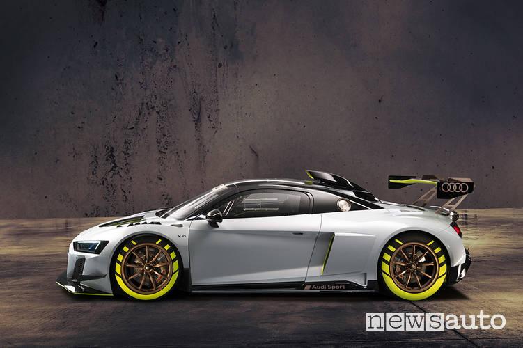 Audi R8 LMS GT2 fiancata laterale