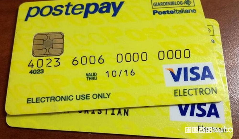 Poste Pay noleggio auto