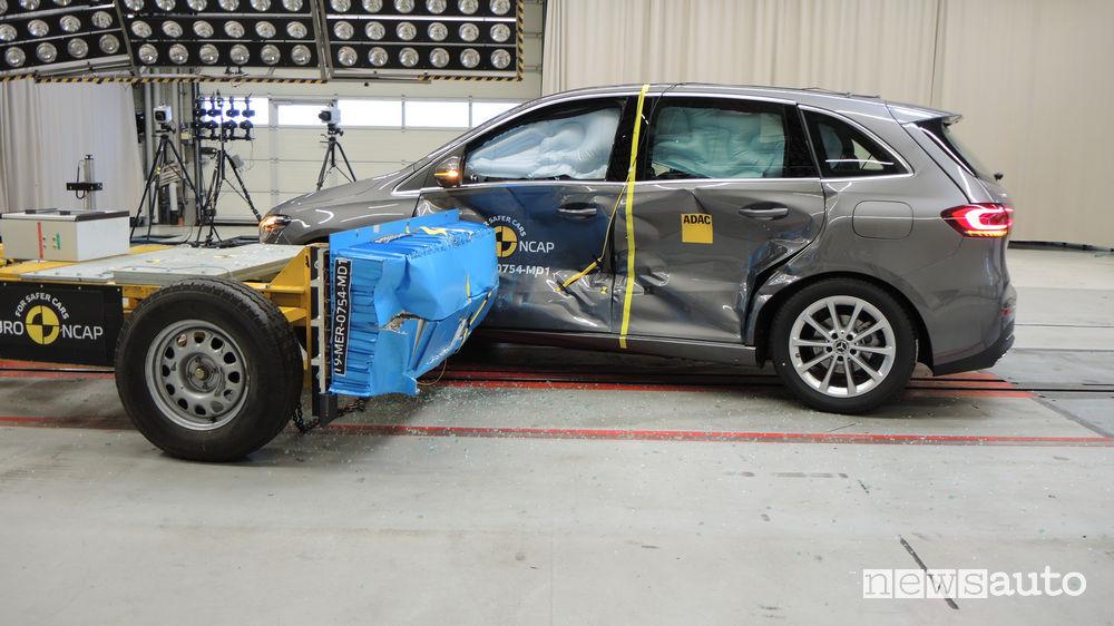 Crash test Euro NCAP laterale Mercedes-Benz Classe B