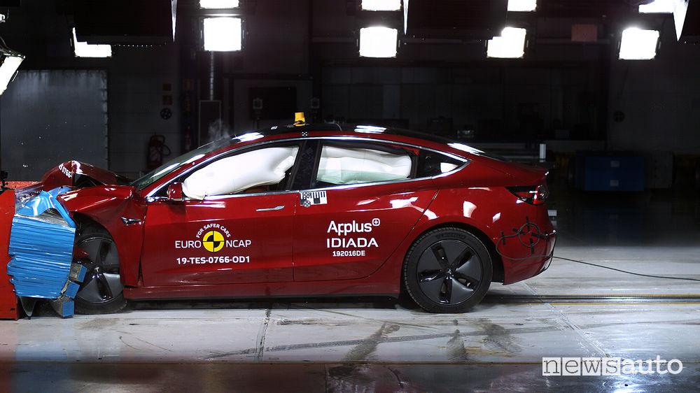 Crash test Euro NCAP Tesla Model 3