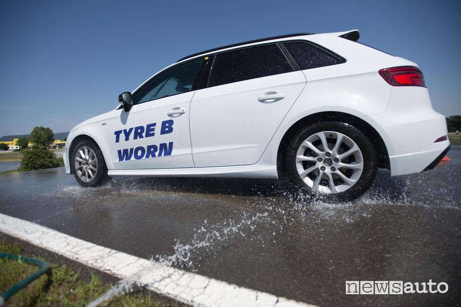 Test Michelin pneumatici usati sull'acqua