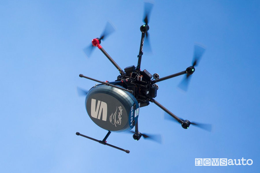 Consegna ricambi auto con drone