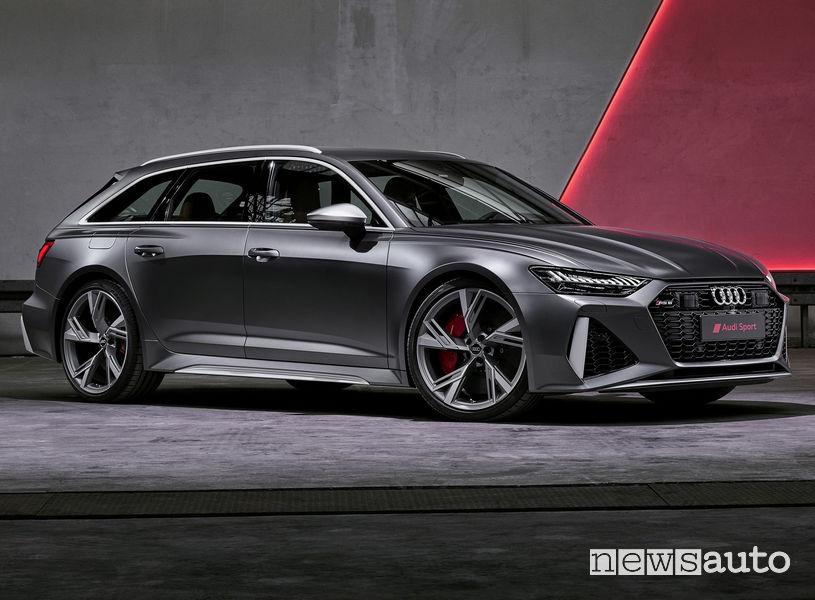 Audi RS6 Avant 2020 vista di profilo