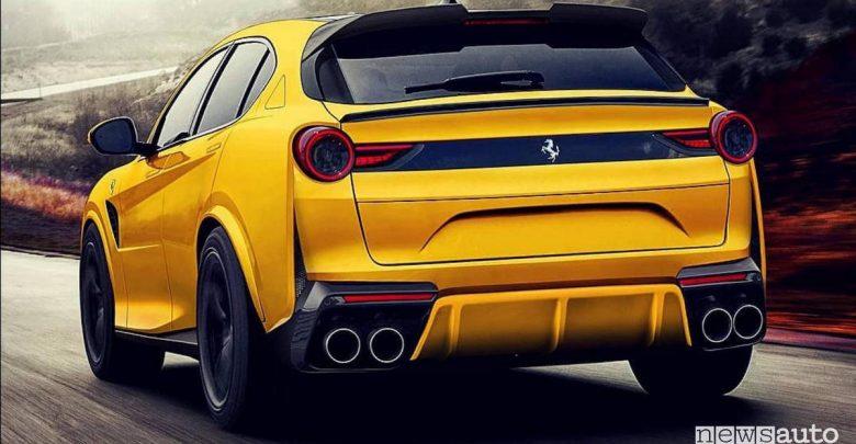 SUV Ferrari Purosangue posteriore