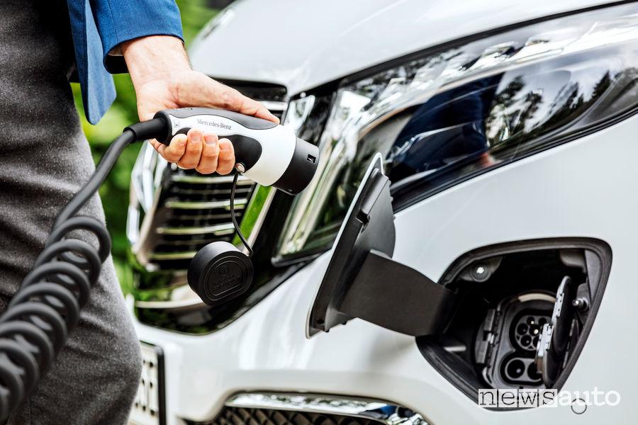Presta di ricarica a corrente alternata (AC) e corrente continua Mercedes-Benz EQV