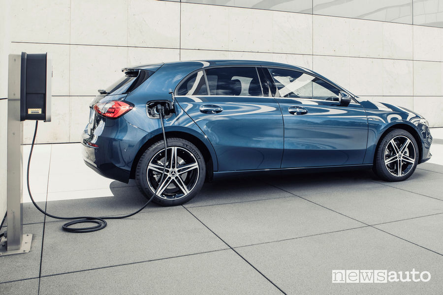 Mercedes-Benz Classe A Plug-in-Hybrid ricarica da wallbox