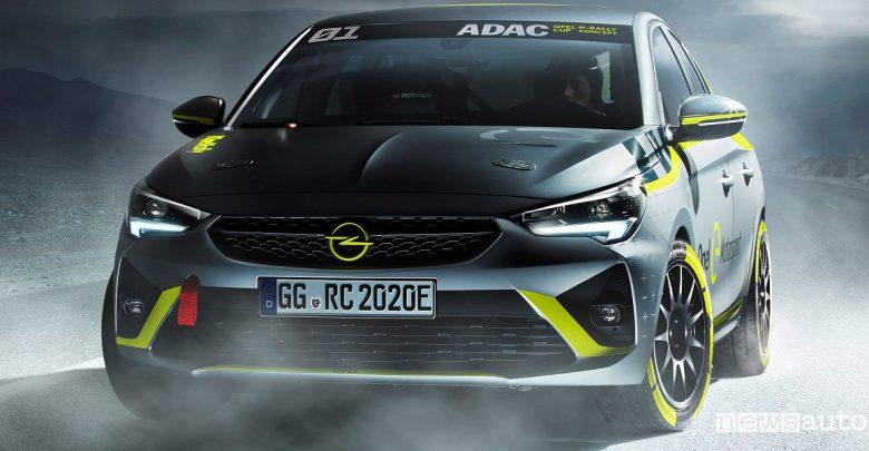 Opel Corsa e- Rally auto da rally elettrica