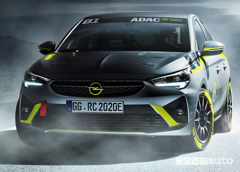 Opel Corsa-e Rally Concept vista frontale