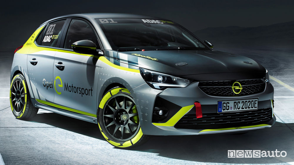 Opel Corsa-e Rally Concept vista di profilo