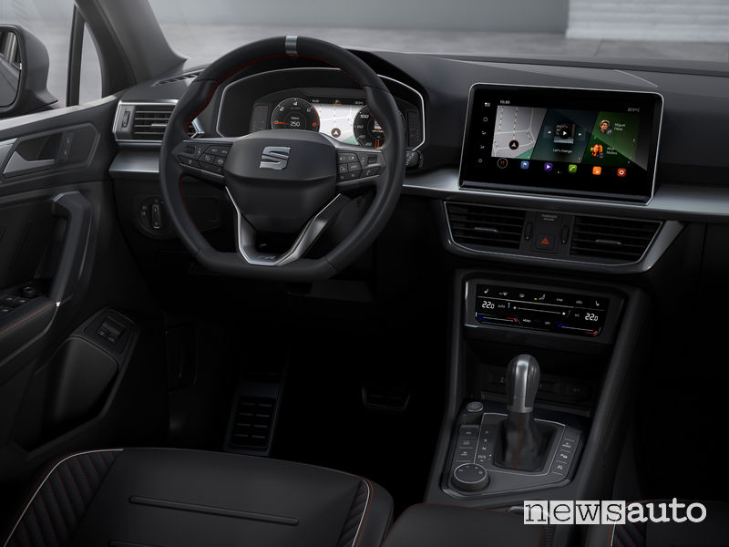 Seat Tarraco ibrida plug-in PHEV FR plancia strumenti