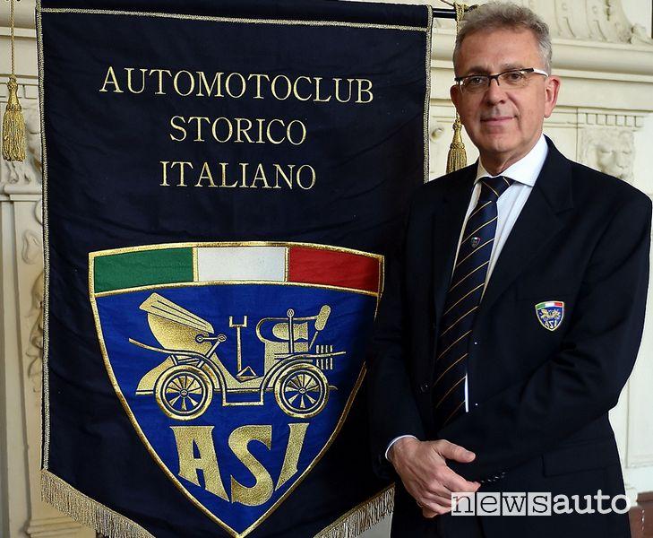 Alberto Scuro, presidente dell'Automotoclub Storico Italiano