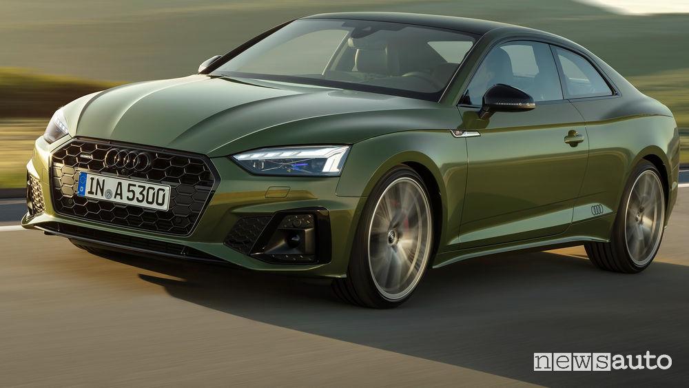 Nuovo frontale e nuovi fari per la nuova Audi A5 Coupé