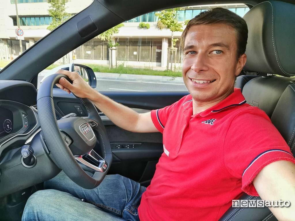Marco Paternostro alla guida di Audi Q5 55 TFSI e Quattro